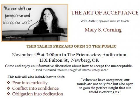 Art of Acceptance flyer