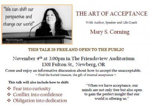 Art of Acceptance flyer